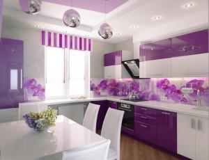 purple-kitchen-design-with-flower-backsplash
